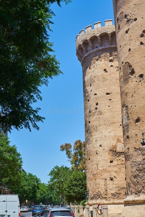 Torres de Quart Valencia, Spagna fotografia stock
