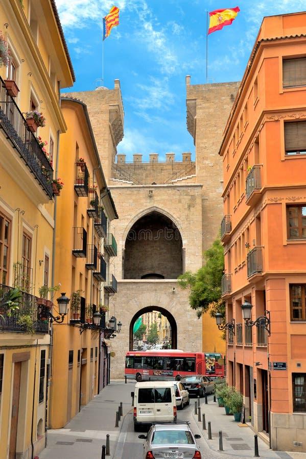 Torres de Quart in Valencia, Spanien stockfotografie