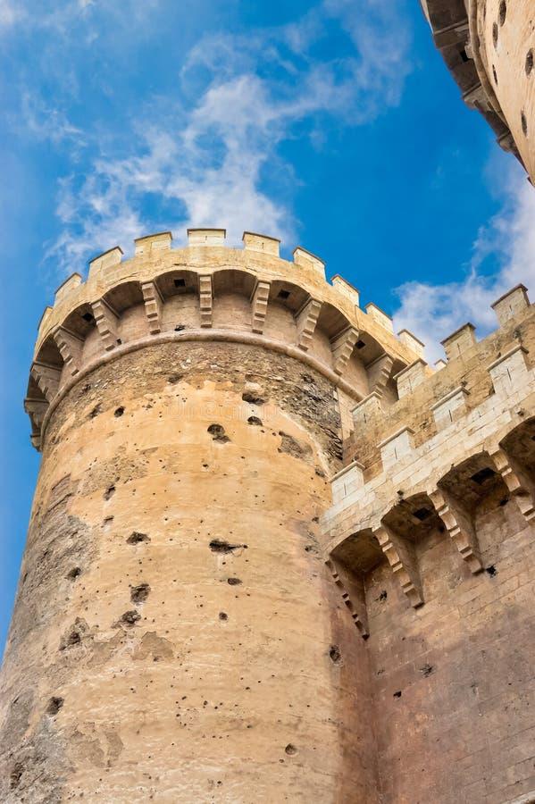 Torres DE Quart in Valencia, Spanje royalty-vrije stock afbeeldingen