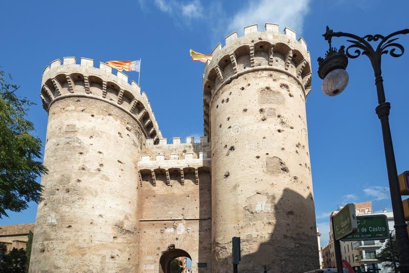 Torres de Torres de Quarto Quarto em Valência imagens de stock