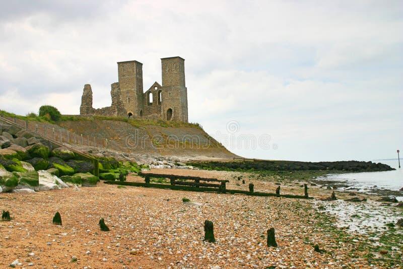 Torres de Recolver y playa circundante fotografía de archivo libre de regalías