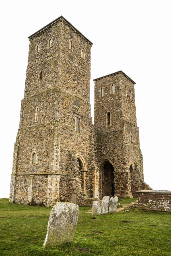 Torres de Reculver, Kent foto de archivo libre de regalías