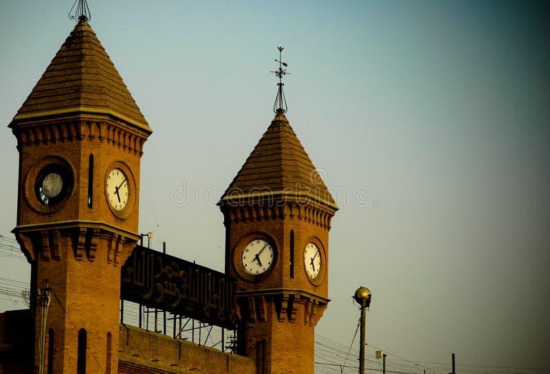 Torres de reloj imagen de archivo libre de regalías