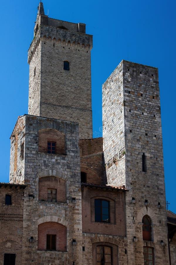 Torres de San Gimignano imagens de stock royalty free