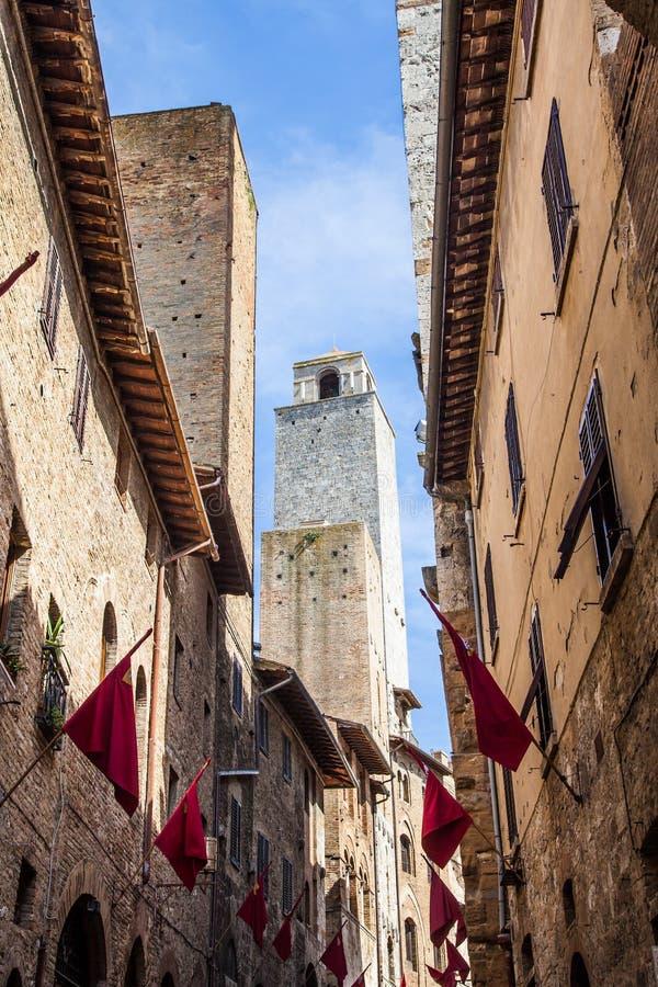 Torres de San Gimignano foto de stock