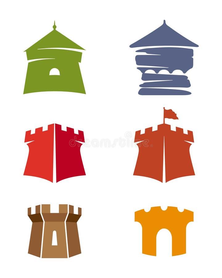 Torres del castillo ilustración del vector