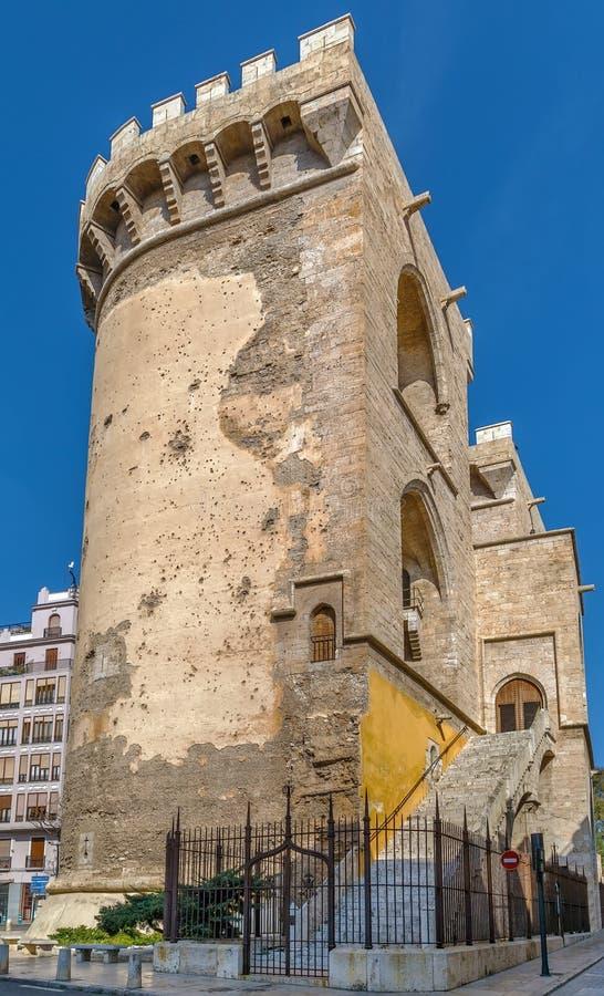 Torres del cuarto de galón, Valencia, España foto de archivo