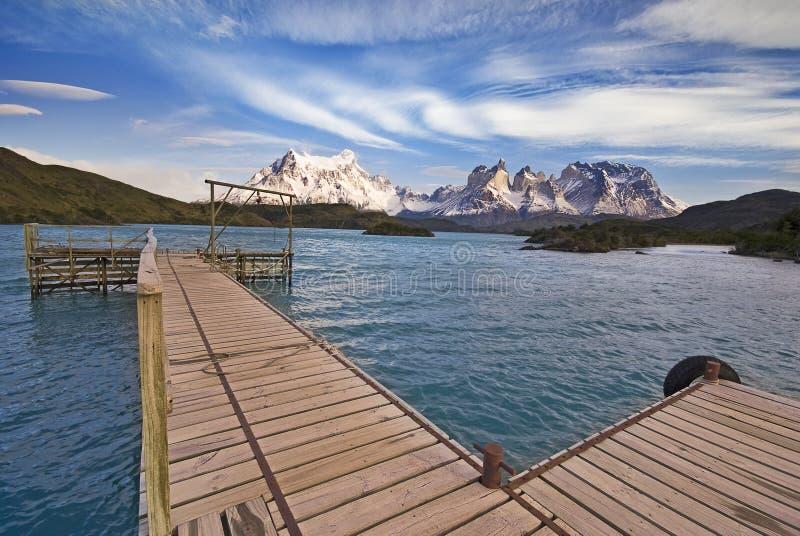 torres del Paine,智利,从Explora的视图 库存图片