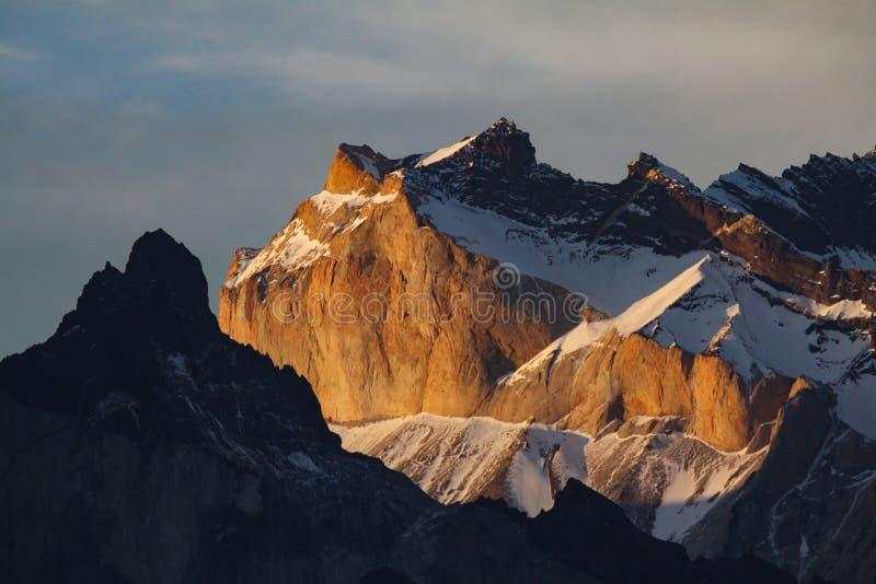 Torres del Paine ηλιοβασίλεμα στοκ φωτογραφίες