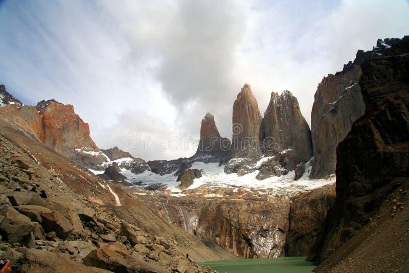 Torres Del Paine stock afbeeldingen