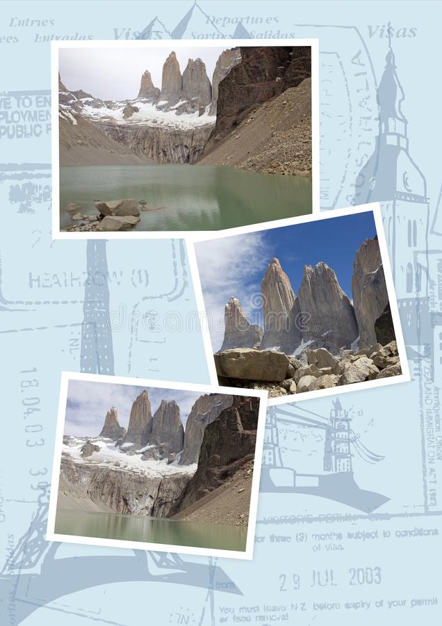 Torres del Paine au parc national de Torres del Paine, Chili image stock