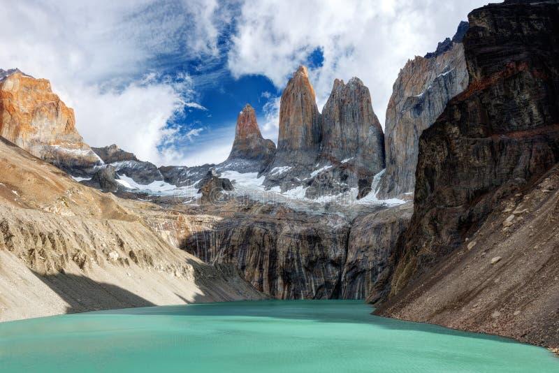Torres del Paine Chile fotografering för bildbyråer