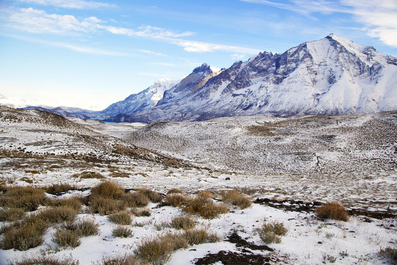 Torres del Paine, Chile imagen de archivo