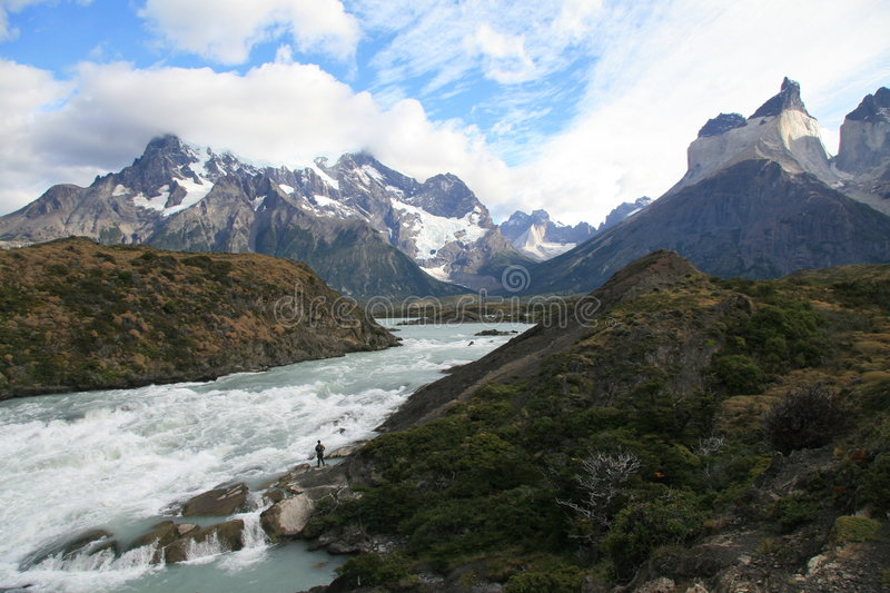 Torres del Paine in Chile royalty free stock photos