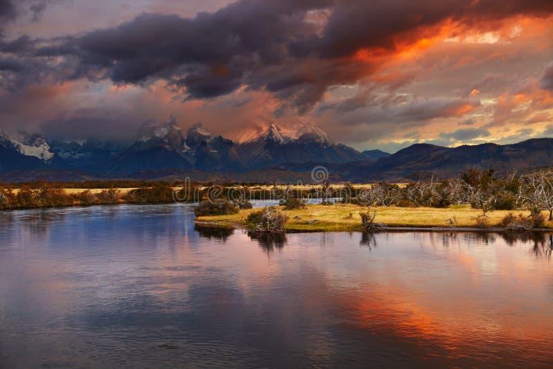 Torres del Paine, Cile immagini stock