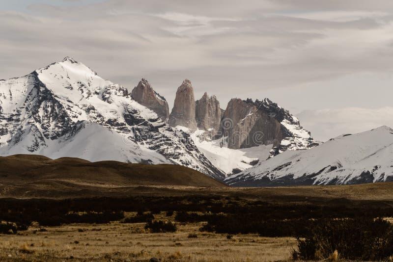 Torres del Paine dans le Patagonia photos libres de droits