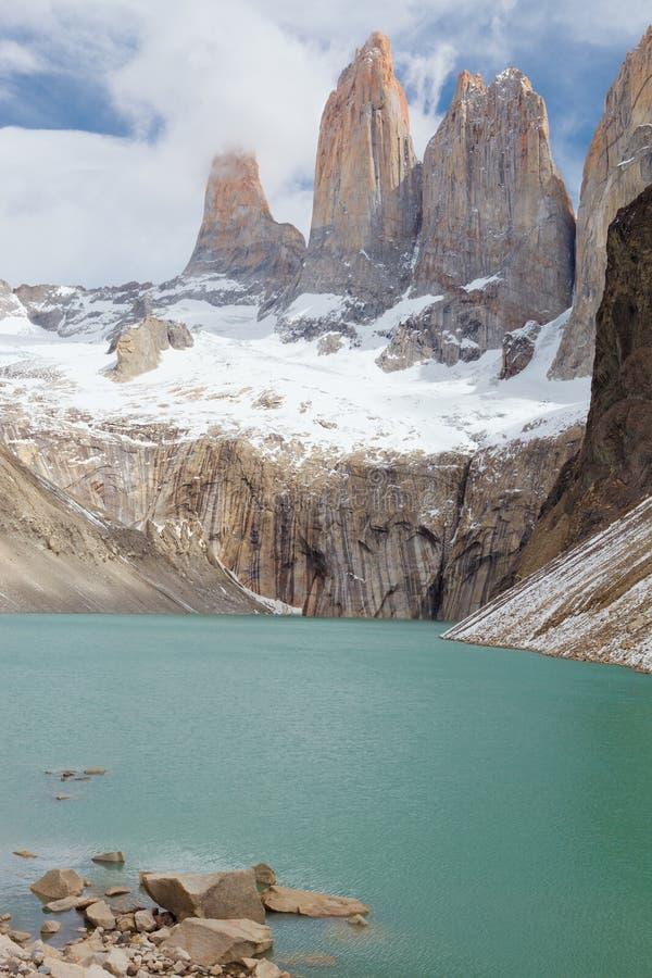 Torres del Paine de la surveillance, Chili photos stock