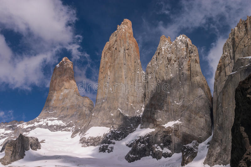 Torres del paine Towers royalty-vrije stock fotografie