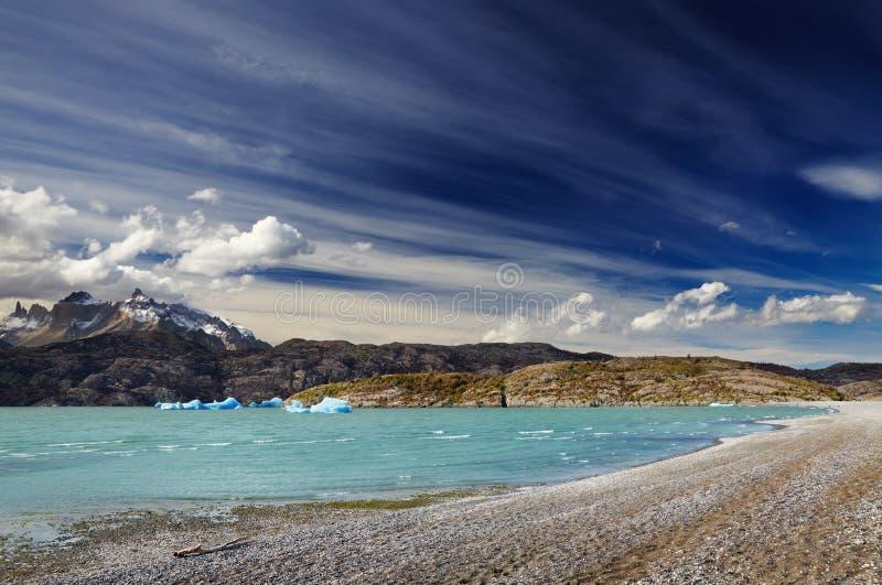 Torres Del Paine, Het Grijs Van Het Meer Royalty-vrije Stock Afbeelding