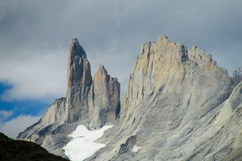 Torres del Paine mountains stock photos
