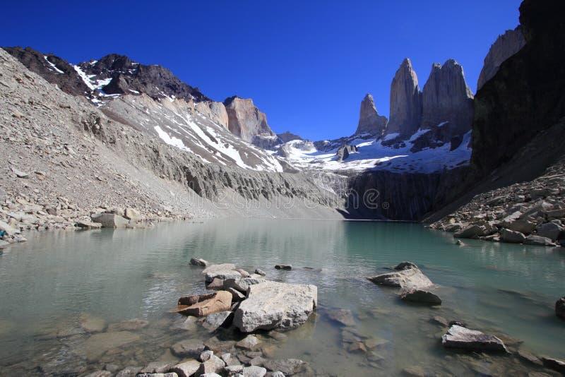Torres del Paine National πάρκο, Παταγωνία, Χιλή στοκ φωτογραφία