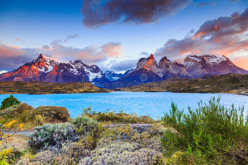 Torres Del Paine National Park, Chile. stock photo