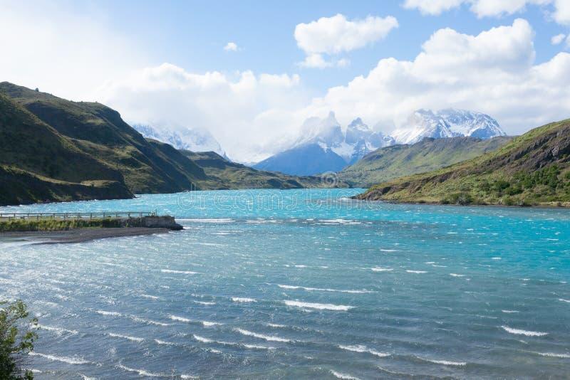 Torres del Paine National Park landscape, Chile royalty free stock photo
