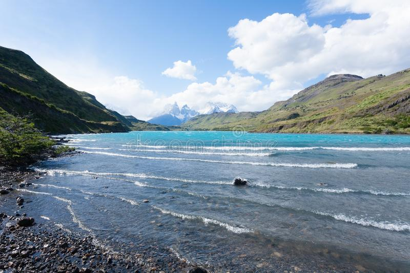 Torres del Paine National Park landscape, Chile royalty free stock photography