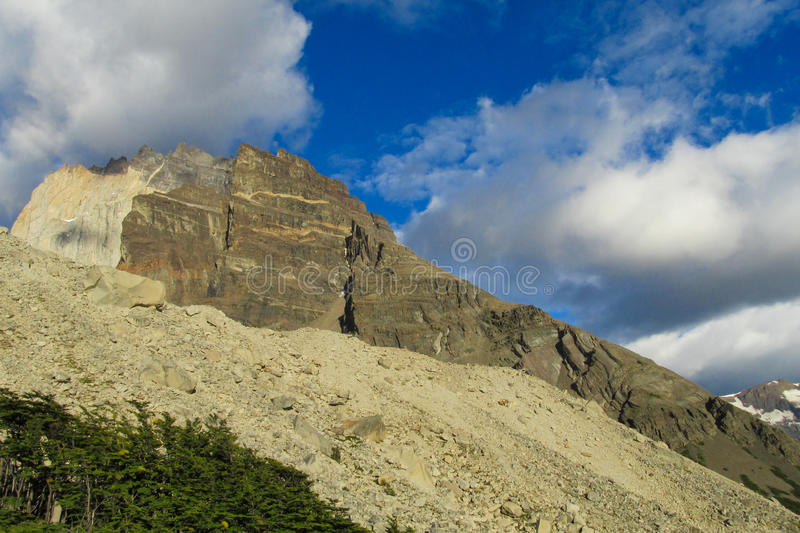 Torres del Paine national park mountains stock image