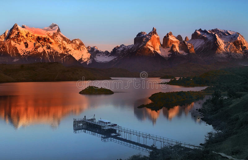 Torres del Paine National Park in Patagonia in Southern Chile royalty free stock images