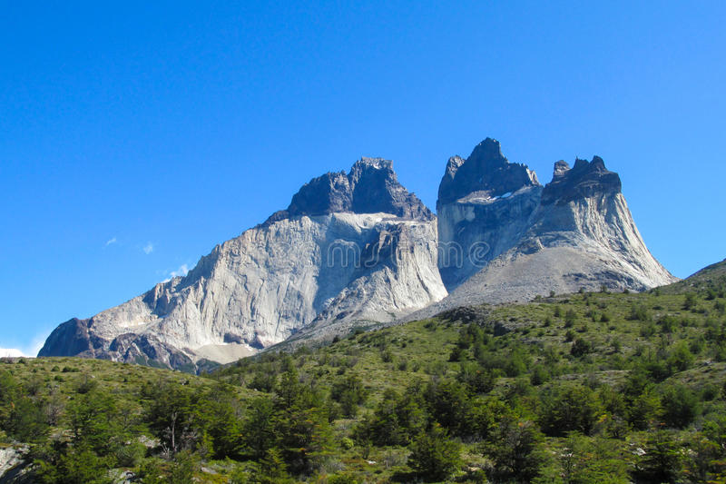 Torres del Paine national park view stock photography