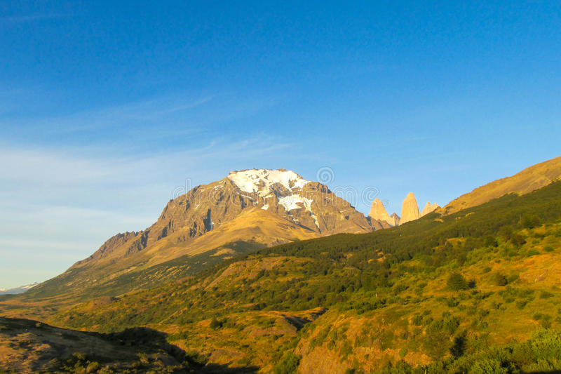 Torres del Paine national park view stock image