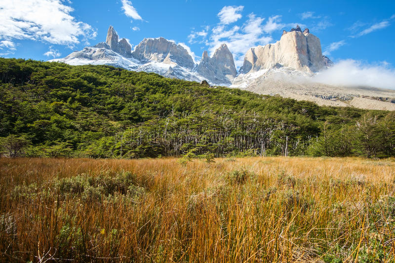 Torres del Paine Nationalpark, Chili photos stock