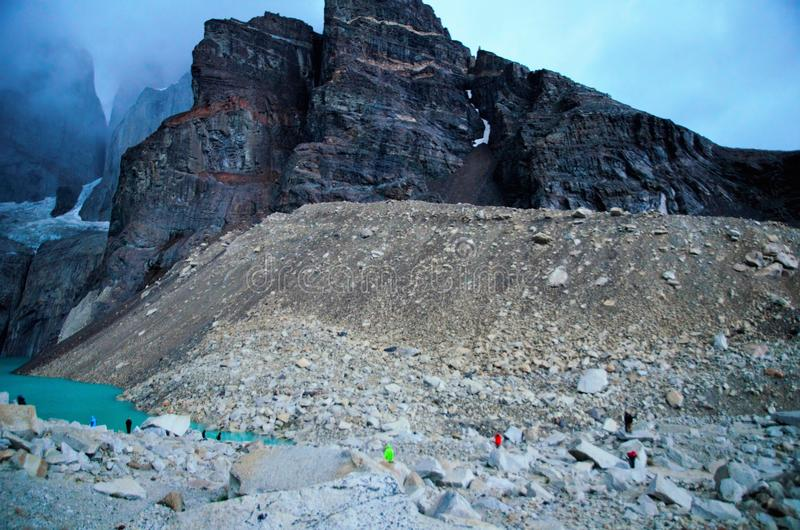 Torres del Paine nationalparkW-Trek royaltyfria foton