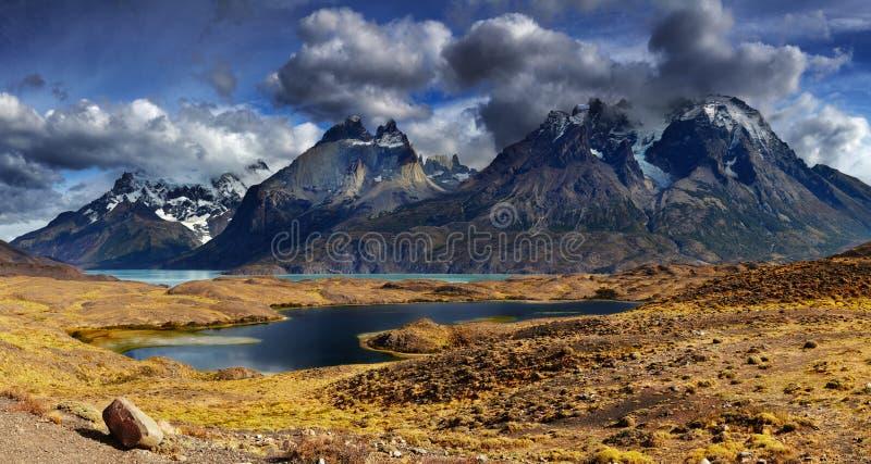 Torres del Paine, o Chile foto de stock
