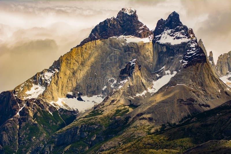 Torres Del Paine Parkujący, Chilijski Patagonia obrazy royalty free