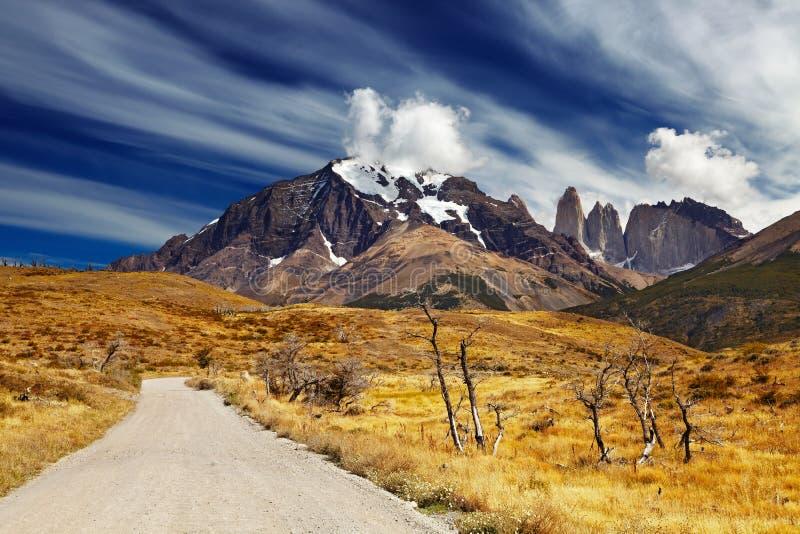 Torres del Paine, Patagonia, Chile royaltyfria bilder
