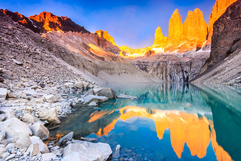 Torres del Paine, Patagonia, Chile stock photo