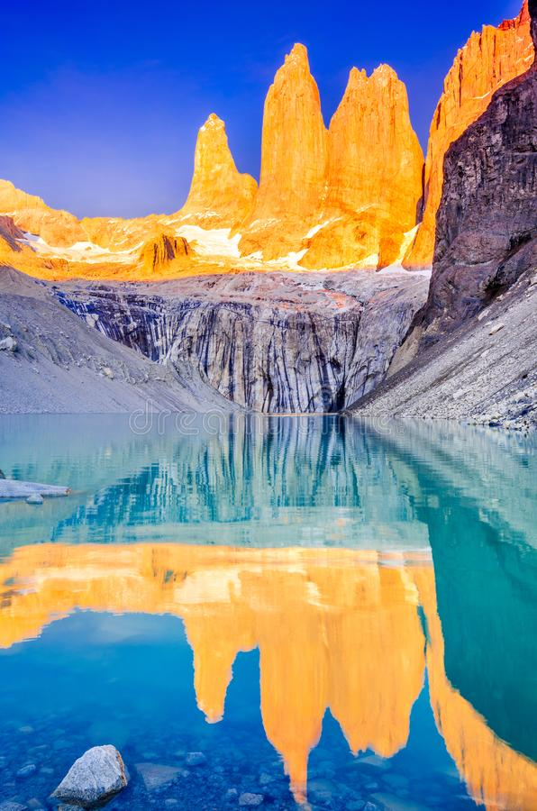Torres del Paine, Patagonia, Chile royalty free stock image