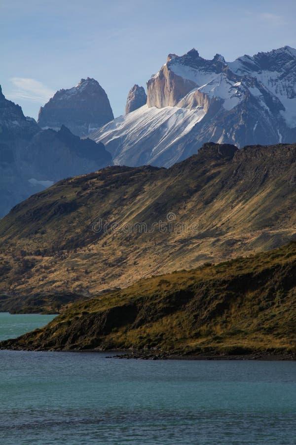 Torres Del Paine See lizenzfreie stockbilder