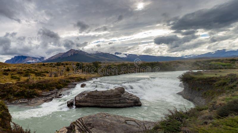 Torres Del Paine Waterfalls stockfoto