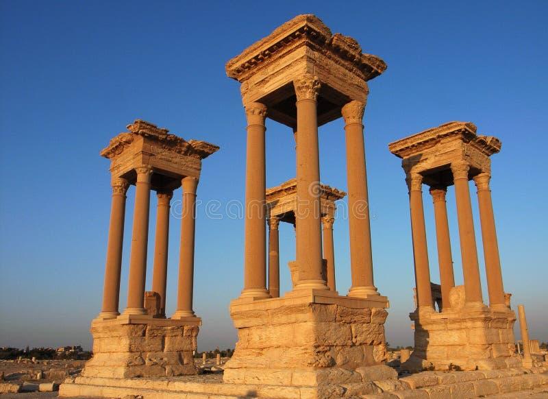 Torres del Palmyra imagen de archivo