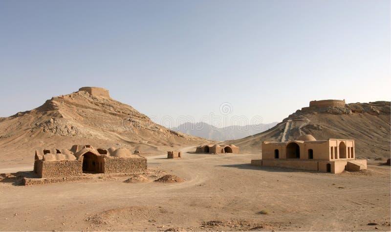 Torres del silencio en Yazd, Irán imagen de archivo libre de regalías