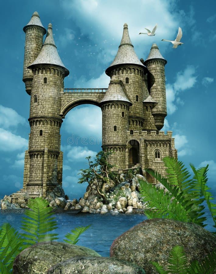 Torres do castelo da fantasia ilustração royalty free