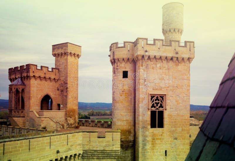 Torres do castelo velho imagens de stock royalty free