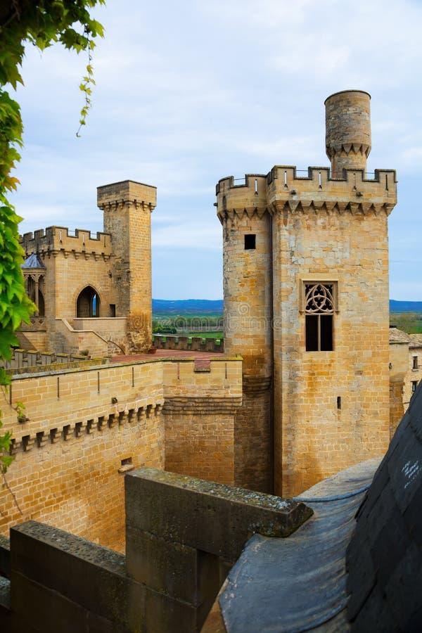 Torres do castelo velho fotos de stock royalty free