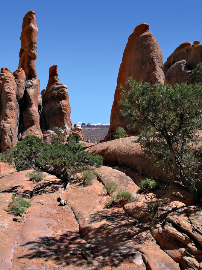 torres do deserto fotografia de stock royalty free