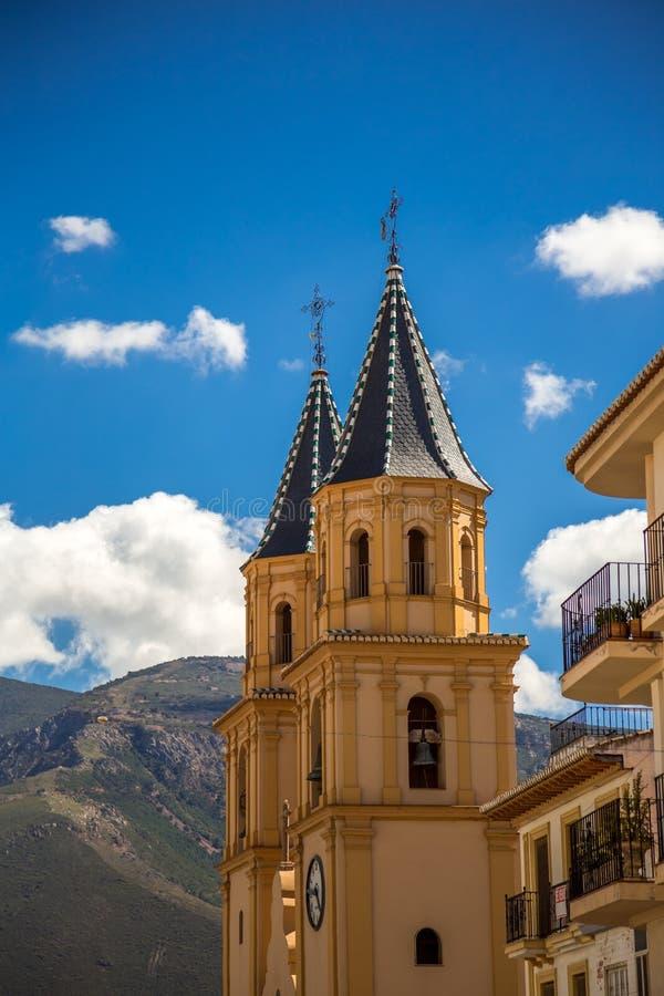 Torres do ³ n de Expectacià do la de Iglesia de Nuestra Señora de fotos de stock