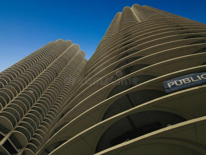Torres do porto em Chicago foto de stock