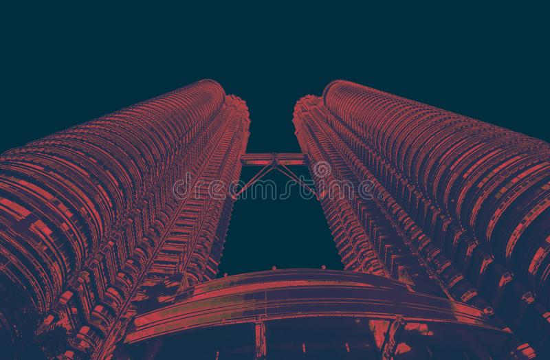 Torres do towersPetrona de Petrona no quilolitro Malásia r fotos de stock royalty free